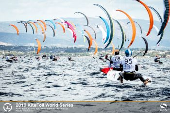 French tighten grip on top of leaderboard at KiteFoil World Series in Italy
